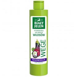 Biały Jeleń FITOkoktajl do mycia włosów - REGENERACJA, burak i bakłażan WEGE, poj. 250 ml