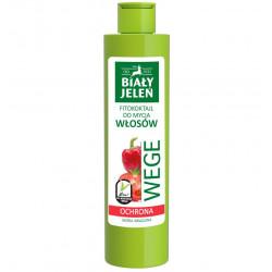 Biały Jeleń FITOkoktajl do mycia włosów - OCHRONA, pomidor i papryka WEGE, poj. 250 ml