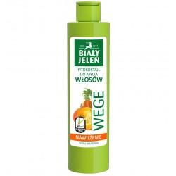 Biały Jeleń FITOkoktajl do mycia włosów - NAWILŻENIE, marchew i dynia WEGE, poj. 250 ml