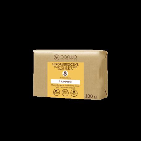 Barwa - hipoalergiczne tradycyjne polskie szare mydło, RUMIANEK, waga 100 g