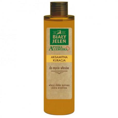 Biały Jeleń Apteka Alergika - aksamitna kuracja do mycia włosów, poj. 250 ml