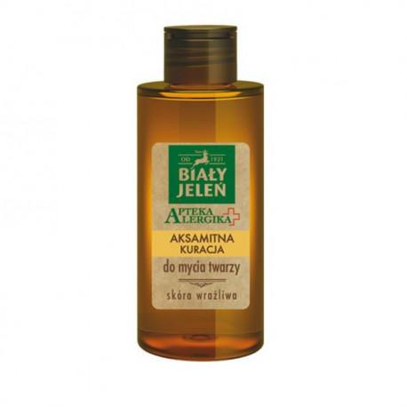 Biały Jeleń Apteka Alergika - aksamitna kuracja do mycia twarzy, poj. 150 ml