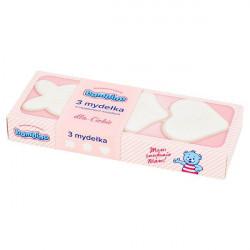 Bambino - mydełka w wyjątkowych kształtach, RÓŻOWE, poj. 3 szt. x 50 g