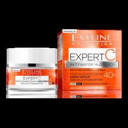 Eveline Expert C - przeciwzmarszczkowy krem-serum, redukcja przebarwień, na dzień i na noc, 40+, poj. 50 ml