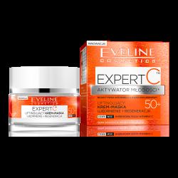 Eveline Expert C - liftingujący krem-maska, ujędrnienie+regeneracja, na dzień i na noc, 50+, poj. 50 ml