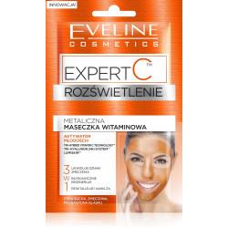 Eveline Expert C - ROZŚWIETLENIE, metaliczna maseczka witaminowa 3w1, poj. 2 x 5 ml