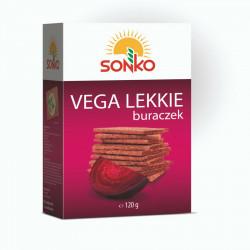 Sonko - pieczywo Vega Lekkie, buraczek, masa netto: 120 g