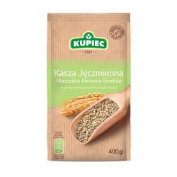 Kupiec - kasza jęczmienna mazurska średnia (folia), masa netto: 400 g