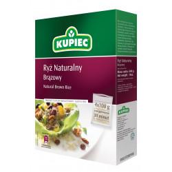 Kupiec - ryż naturalny, brązowy (kartonik), masa netto: 4 x 100 g