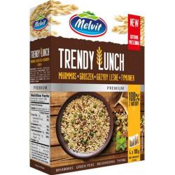 Melvit - TRENDY LUNCH mhammas, grzyby leśne, groszek, tymianek, masa netto: 4 x 100 g