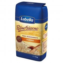 Lubella - Pełne Ziarno mąka pełnoziarnista pszenna, masa netto: 1 kg