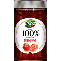 Łowicz - 100% z Owoców, dżem truskawka, masa netto: 220 g