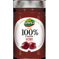 Łowicz - 100% z Owoców, dżem wiśnia, masa netto: 220 g