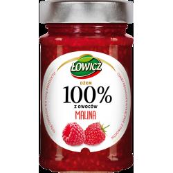 Łowicz - 100% z Owoców, dżem malina, masa netto: 220 g