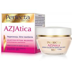 Perfecta Azjatica White - krem-olejek na dzień i na noc, Regeneracja Silne nawilżenie, poj. 50 ml