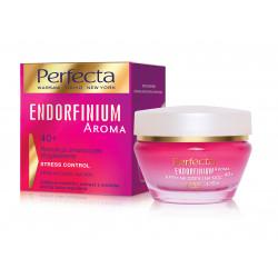 Perfecta ENDORFINIUM AROMA - Redukcja zmarszczek, Wygładzenie, STRESS CONTROL, KREM NA DZIEŃ i NA NOC, 40+, poj. 50 ml