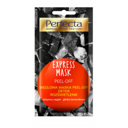 Perfecta Beauty EXPERSS MASK - PEEL-OFF, węglowa maska PEEL-OFF, DETOX, ROZŚWIETLENIE, poj. 8 ml