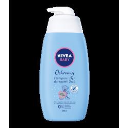 Nivea Baby - ochronny szampon i płyn do kąpieli 2w1, poj. 500 ml