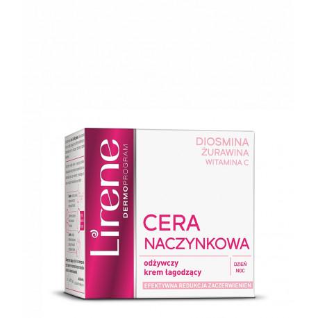 Lirene Cera Naczynkowa - odżywczy krem łagodzący na dzień i na noc, poj. 50 ml