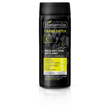 Bielenda CARBO DETOX - węglowy płyn micelarny do mycia i demakijażu, poj. 200 ml