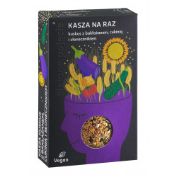 Zielone Pojęcie - Kasza Na Raz, kasza kuskus z bakłażanem, cukinią i słonecznikiem, masa netto: 100 g