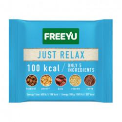 FREEYU - baton daktylowy z orzechami, sezamem, kakao, JUST RELAX, masa netto: 28 g
