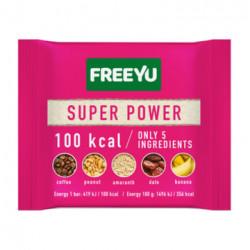 FREEYU - baton daktylowy z bananem, kawą, amarantusem, SUPER POWER, masa netto: 28 g