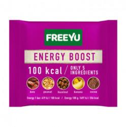 FREEYU - baton daktylowy z orzechami i bananem, ENERGY BOOST, masa netto: 28 g