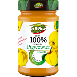 Łowicz - 100% z Owoców Prozdrowotne, dżem pigwowiec z acerolą, masa netto: 235 g