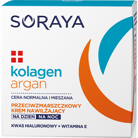 Soraya KOLAGEN+ARGAN - nawilżający krem przeciwzmarszczkowy na dzień i na noc, poj. 50 ml