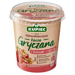 Kupiec Danie Lunchowe - kasza gryczana z burakami i cebulą, masa netto: 70 g