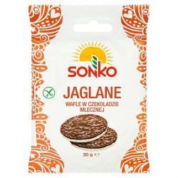 Sonko - wafle jaglane w czekoladzie mlecznej, masa: 30 g
