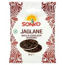 Sonko - wafle jaglane w czekoladzie deserowej, masa: 30 g