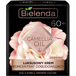 Bielenda CAMELLIA OIL - luksusowy krem – koncentrat odbudowujący 60+ dzień/ noc, poj. 50 ml