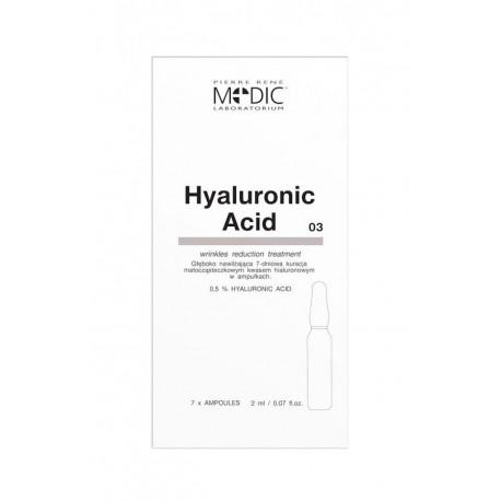 Pierre René - Hyaluronic ACID - ampułki MEDIC z kwasem hialuronowym, poj. 7 x 2 ml