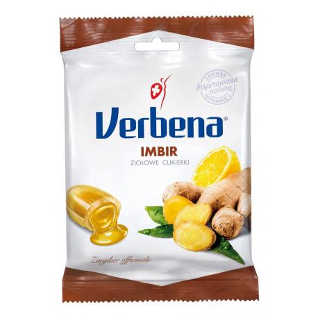 Verbena - cukierki ziołowe, imbir, 60 g