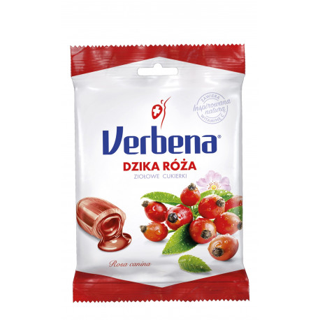 Verbena - cukierki ziołowe, dzika róża z witaminą C, 60 g