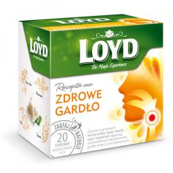 LOYD Recepta na - Zdrowe gardło, herbatka funkcjonalna, poj. poj. 20 torebek piramidek x 2 g