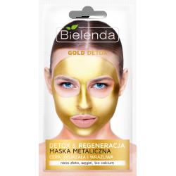 Bielenda GOLD DETOX - detoksykująca maska metaliczna do cery dojrzałej i wrażliwej, poj. 8 g