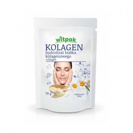 Witpak - Kolagen, hydrolizat białka kolagenowego w proszku, suplement diety, masa netto: 70 g