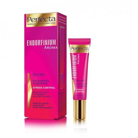 Perfecta ENDORFINIUM AROMA - krem pod oczy i na powieki, Stress Control, Rozświetlenie Wygładzenie, 30+/40+, poj. 15 ml