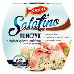 Graal Salatino - tuńczyk z dzikim ryżem, imbirem i czerwoną papryką, masa netto: 160 g