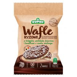 Kupiec - wafle ryżowe z belgijską czekoladą deserową i kawałkami o smaku miętowym, masa netto: 34 g