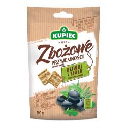 Kupiec - Zbożowe przyjemności oliwki i zioła, masa netto: 50 g