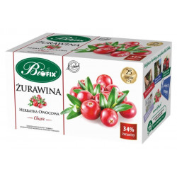 Bi fix Żurawina - herbatka owocowa Classic, poj. 25 saszetek x 2 g