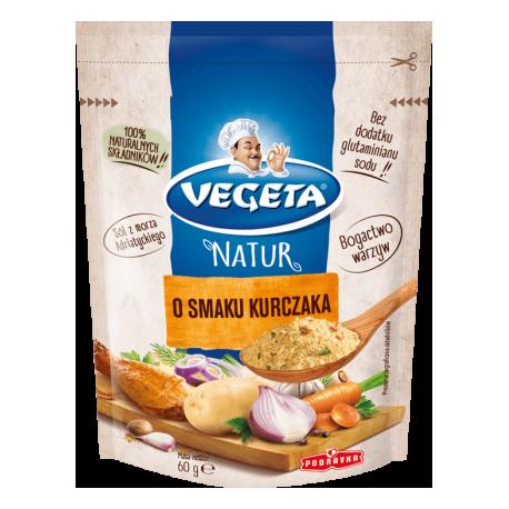 Vegeta - Natur, o smaku kurczaka, mieszanka przyprawowa, masa netto: 60 g