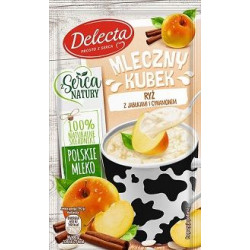 Delecta - Mleczny Kubek, ryż z jabłkami i cynamonem, masa netto: 46 g