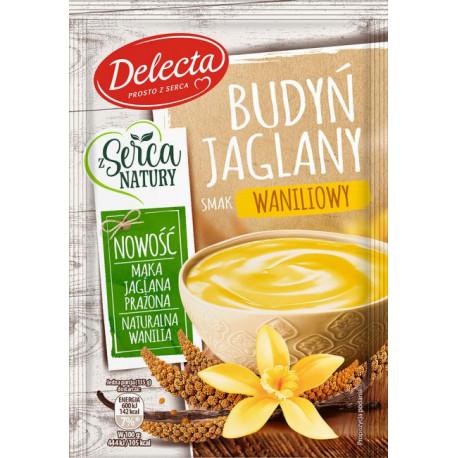 Delecta - Budyń Jaglany, smak waniliowy, masa netto: 46 g