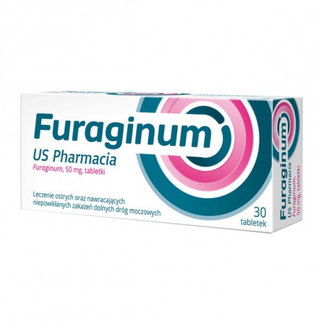US Pharmacia - Furaginum, tabletki 50 mg, 30 szt.