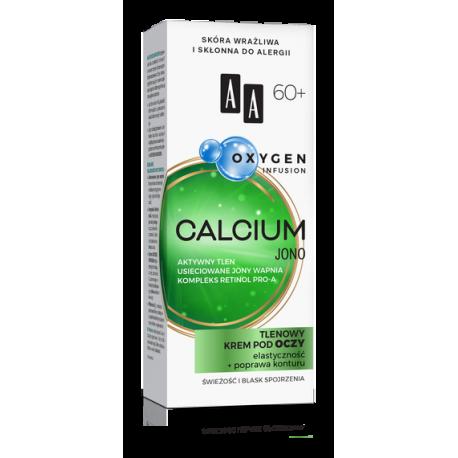 AA OXYGEN INFUSION - CALCIUM JONO, tlenowy krem pod oczy, elastyczność + poprawa konturu 60+, poj. 15 ml